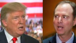 When it rains it pours! POTUS calls out Adam Schiff and coins new nick name for him. Photo credit to screen captures by USA For Trump.