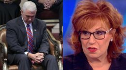 Joy Behar attacks Vice President Pence and the Christians of America. Photo Credit to IJR and The View.