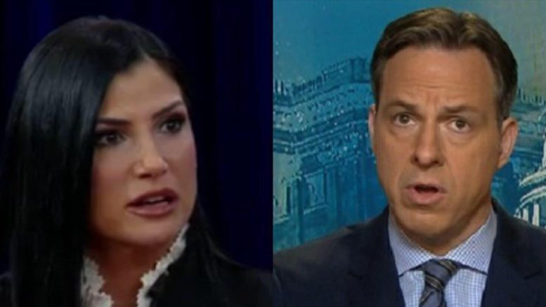 Dana Loesch threatened by angry mob. Jake Tapper is shocked. Photo credit to screen captures by US4Trump.