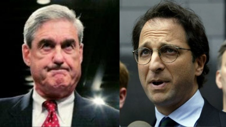Judge Ellis rebukes Mueller investigation as overreach. Photo credit to US4Trump compilation with Mueller, Weissmann Reuters.