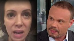 Alyssa Milano instantly shut down by Dan Bongino in epic twitter war! Photo credit to Twitter screen capture by US4Trump.