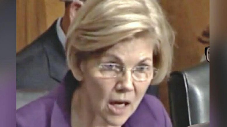 Elizabeth Warren being called upon to take a DNA test and release the findings! Photo credit by US4Trump and Yahoo!.