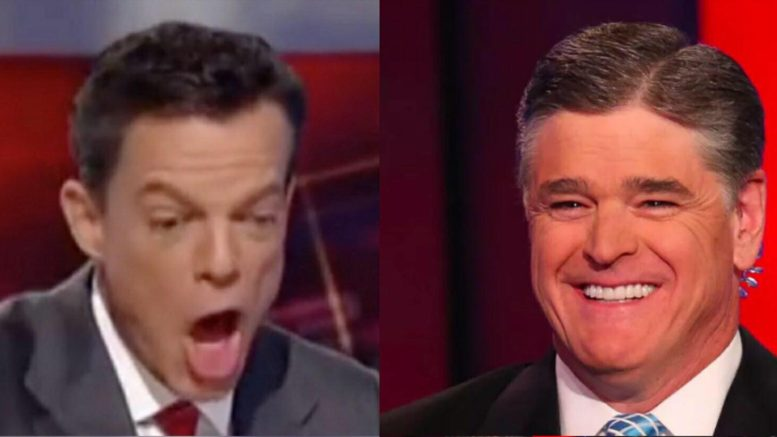 Shepard Smith slams Fox evening news broadcasters in a Time Magazine interview. Photo Credit to US4Trump compilation from VOX and screen capture.