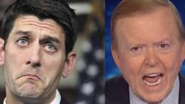 Paul Ryan sells out to the Democrats on the Floor. Lou Dobbs unloads his displeasure! Photo credit to Odyssey, Screen Grab and US4Trump Compilation.