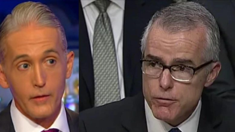 Andrew McCabe uses lame excuse to convince world he is NOT a liar! Feature photo credit to Fox/MSNBC Screen captures and compilation by US4Trump.