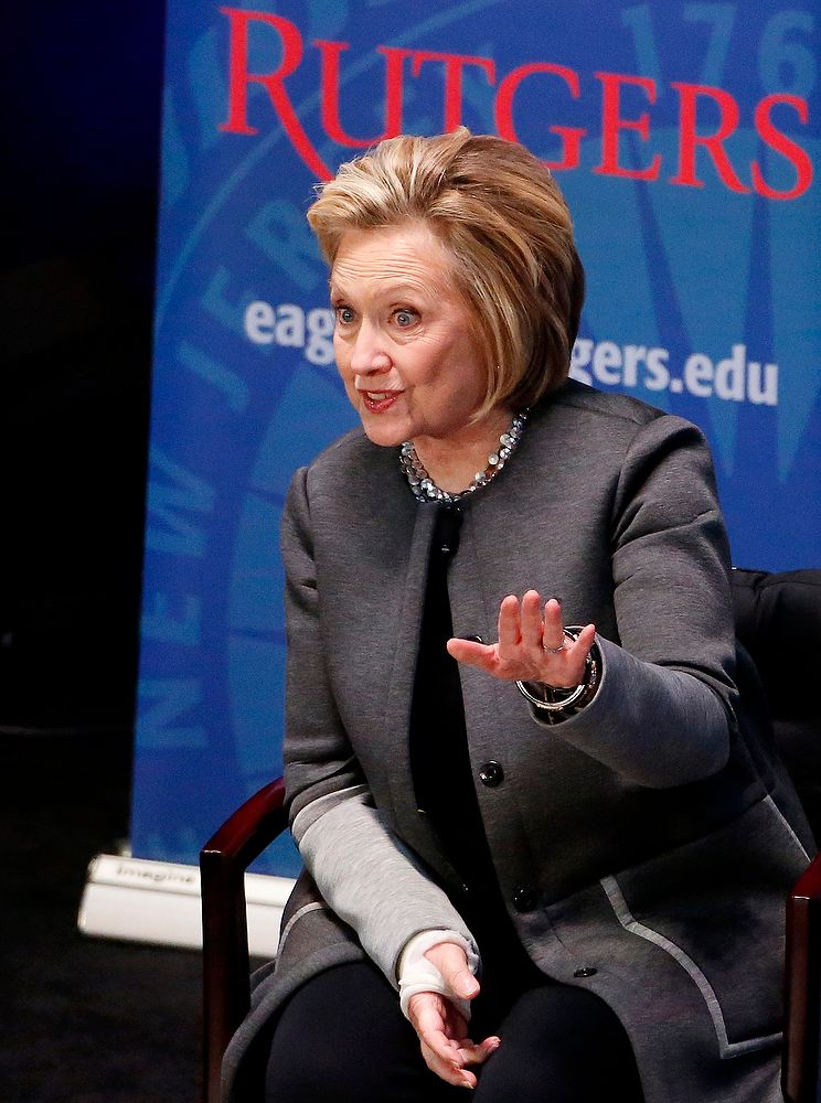 Hillary Clinton is paid 90% less in speech at Rutger's University. Photo credit to NJ.com. Photo Credit to Aristide Economopoulos | NJ Advance Media for NJ.com.