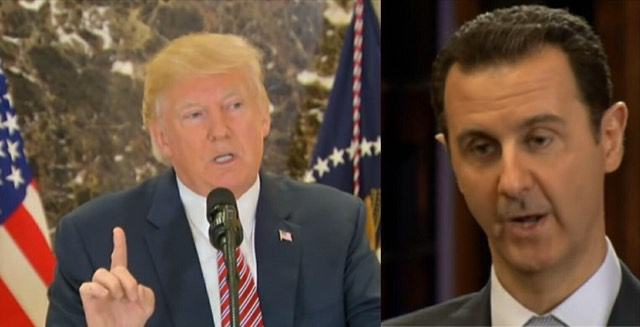 President Trump reacts after Assad uses chemical warfare on INNOCENT women and children. Photo credit to screen captures by US4Trump.