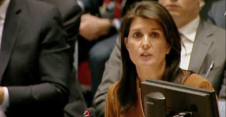 U.N. Ambassador Nikki Haley STUNS UN Security Council as she rails against Russia and Assad regime for using chemical warfare. Photo credit to US4Trump screen capture.