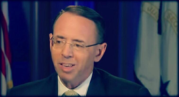 Rod Rosenstein impeachment papers drafted. Photo credit to Fox screen capture.