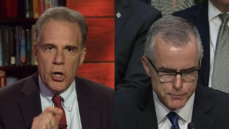Inspector General, Michael Horowitz hands Attorney General, Jeff Sessions possible criminal charges on Andrew McCaber, former Deputy Director of FBI. Photo credit to DOJ & CSPAN screen captures by US4Trump.