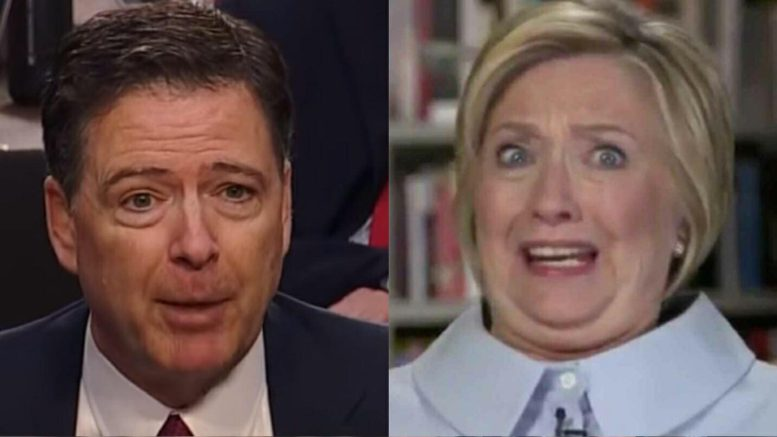 11 Congressmen ask for investigations into Hillary Clinton and James Comey. Photo credit to screen captures by US4Trump.