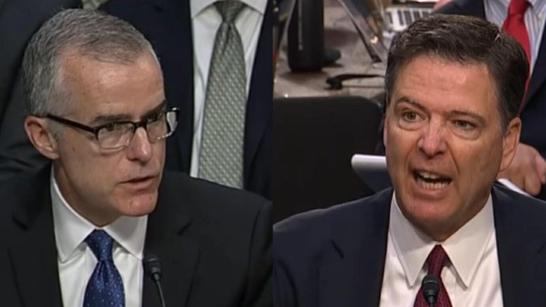 McCabe and Comey pointing fingers at one another in blow out over who is and who is not lying! Photo credit to US4Trump with CSPAN screen captures.