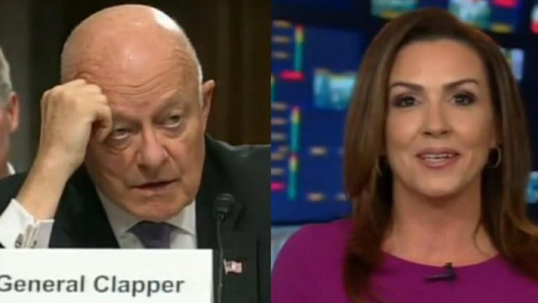 Sara A Carter calls out former Director of National Intelligence for lack of ethics in leaking. Photo credit to US4Trump with Fox Screen Shots.