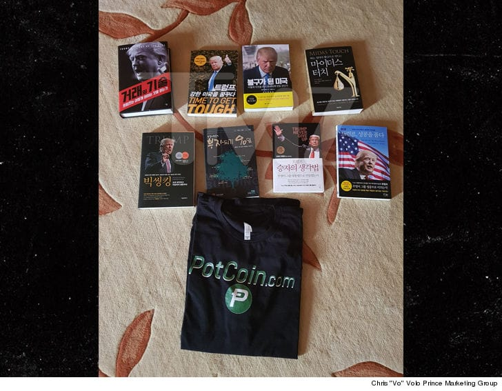 """The eight book collection Rodman gave to NOKO Sports minister last year. Image credit to Chris """"vo"""" Volo/Prince Marketing Group."""