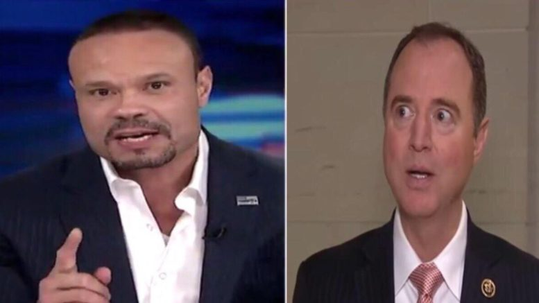 Bongino joins the early morning Fox crew to discuss Schiff's Op-ed. Image by US4Trump screen captures.
