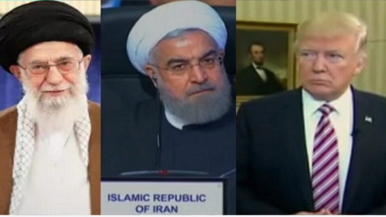 Iran retaliates to America. Photo credit to US4Trump compilation of MSNBC , EuroNews, and Hannity Screen Grabs.