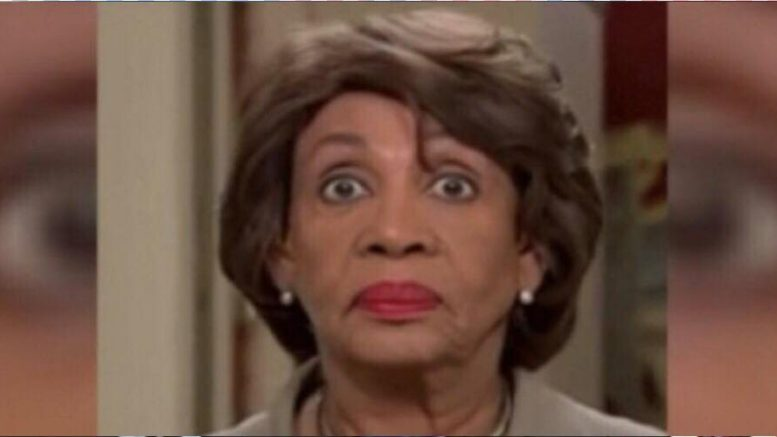 Maxine suffers a tough blow the night before primary elections for 2018 mid terms. Image credit to US4Trump screen capture enhancement.