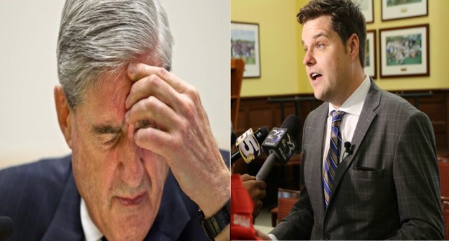 Gaetz reacts to 'Viva Le Resistance' FBI text. Image credit to US4Trump screen captures and enhancement.