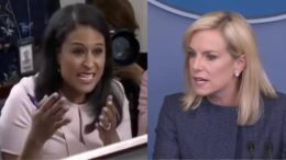 DHS Secretary, Nielsen owns the press room with facts. Image credit to US4Trump screen capture enhancement.