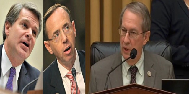 Goodlatte delivers honest and brutal opening statement to Wray and Rosenstein. Image credit to US4Trump screen capture compilation.