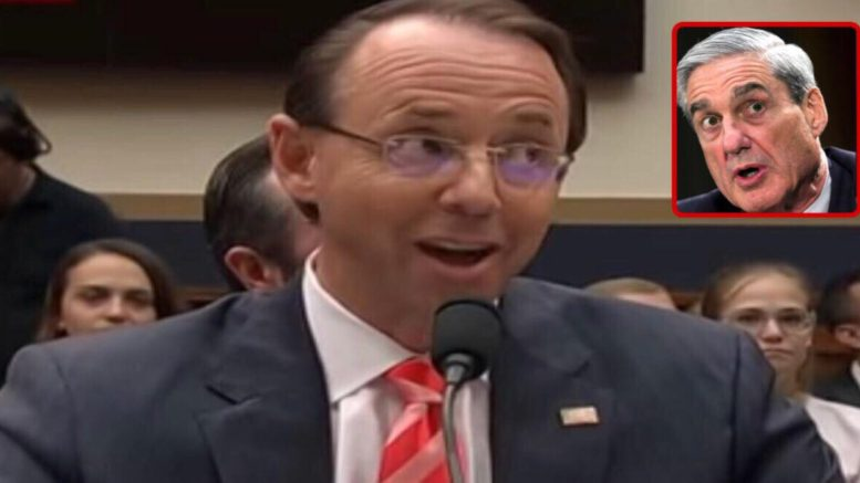 Rosenstein cites congressional oversight is not historically sound. And does not take action on criminal referral against Christopher Steele. Image credit to US4Trump with screen capture compilation.