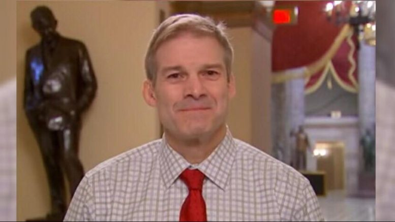 Jim Jordan under attack by Dems after getting close to exposing the truth of Dossier scandal. Image credit to US4Trump with MSNBC Screen Shot enhancement.