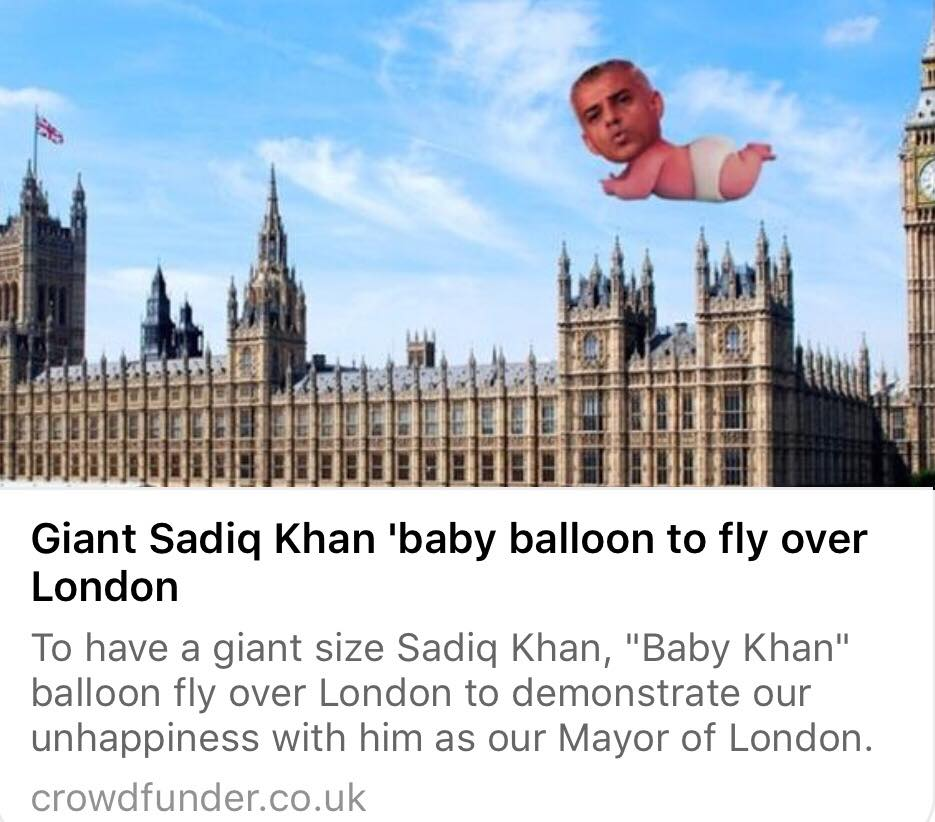 Khan baby balloon in Crowdfunder.