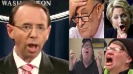 Rosenstein clears Trump campaign of collusion in the 2016 election. Feature photo credit to US4Trump with video screen shot compilation.