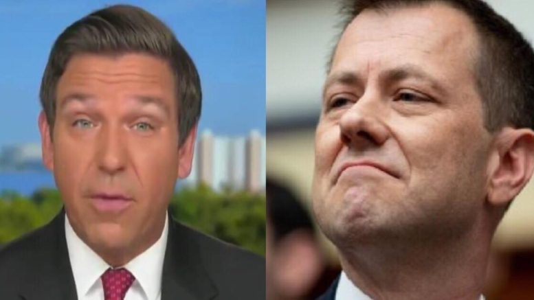 DeSantis speaks out on Page and Strzok testimonies. Image credit to US4Trump video screen capture compilation.