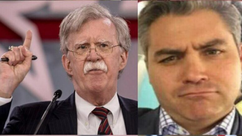 John Bolton cancelled from appearing on CNN's State of the Union show with Jake Tapper. Photo credit to US4Trump compilation with CPAC, Twitter screen captures.