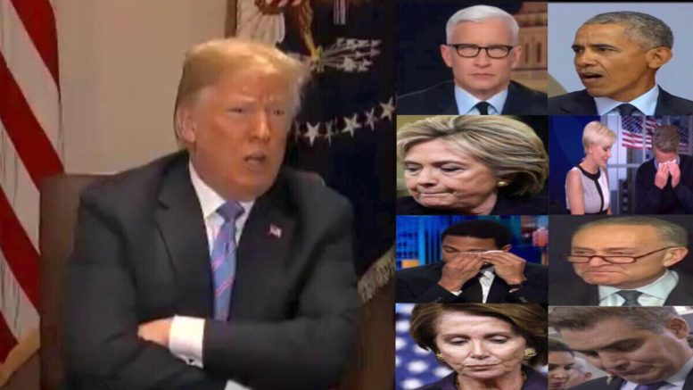 President Trump responds to media meltdown on the Helsinki Summit. Photo credit to US4Trump screen capture compilation.