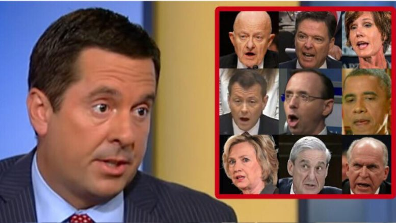 Devin Nunes responds to Democrats regarding the Republican memo and the newly released FISA application with Laura Ingraham. Photo credit to US4Trump enhanced compilation with screen captures.