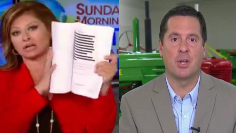 Devin Nunes announces declassification of documents request and blows a hole in dem and media narrative.