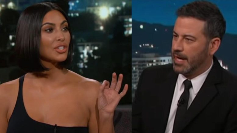 Kardashian-West shuts Kimmel down on his own show as he tries for an Anti-Trump narrative! Photo credit to US4Trump screen capture compilation.