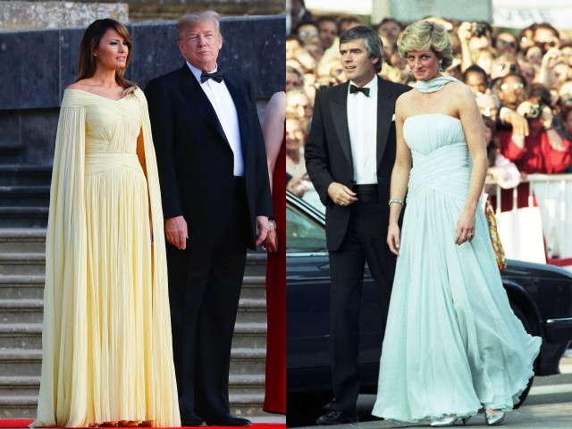 Lady Melania and Princess Diana photo collage by Brietbart News.