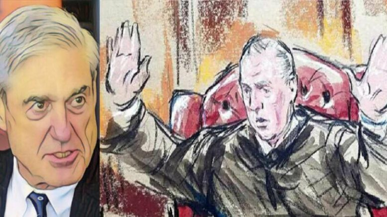 Day three of Manafort Virginia trial. Photo credit to US4Trump with Compilation of (L) Don Knight - The Herald Bulletin, (R) Judge Ellis Court photo.