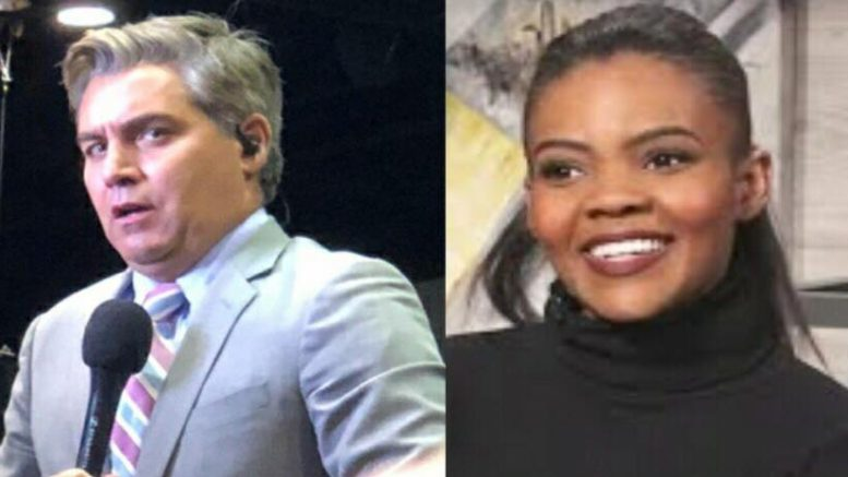 Candace Owens tells Jim Acosta a true case of an attack as opposed to a chant. Photo credit to US4Trump compilation with YouTube screen grabs.