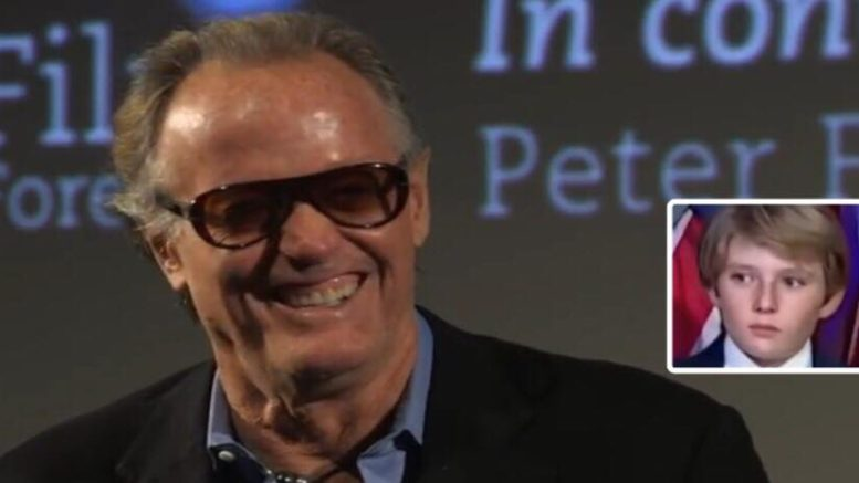 Peter Fonda steps it up and calls for Democrats to commit voter fraud. Photo credit to US4Trump compilation with screen grabs.