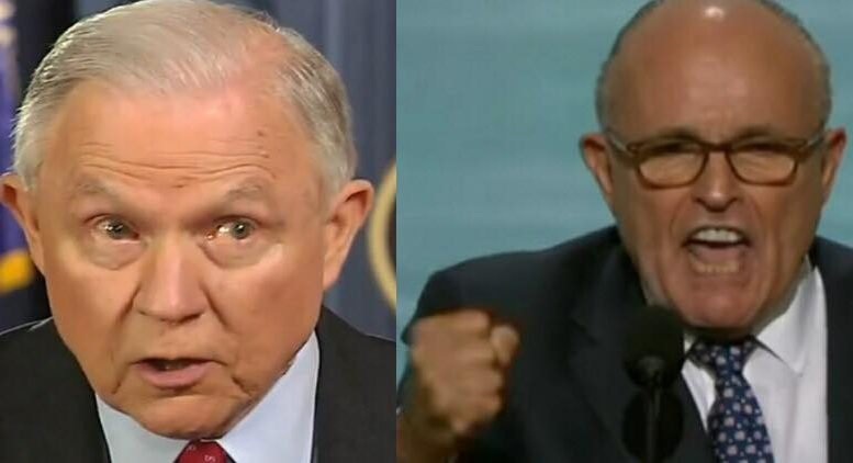 Rudy Giuliani and Dan Bongino speak out on the idea of a second special counsel. Photo credit to US4Trump with screen capture compilation.
