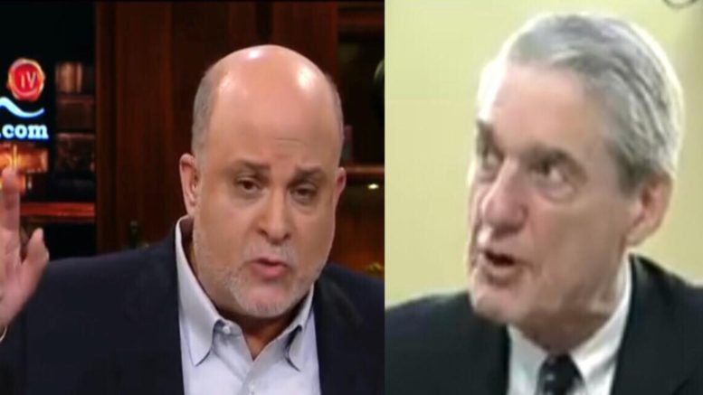 Mark Levin makes Mueller look like what the American people think of him! Photo credit to US4Trump with screen shots.