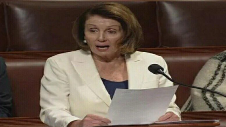 Polls reflect Nancy Pelosi is unwanted as Minority Speaker of the House. Photo credit to US4Trump with Reuters YouTube Screen Grab.
