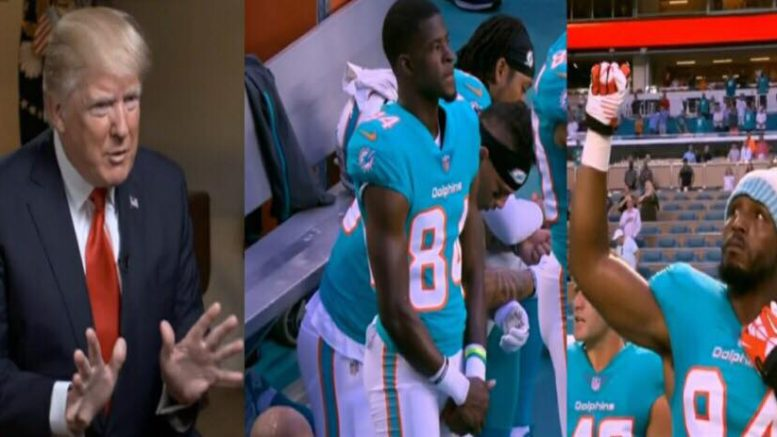 First 2018 NFL. preseason games and kneelers gonna kneel. POTUS responds. Photo credit to US4Trump screen capture compilation.