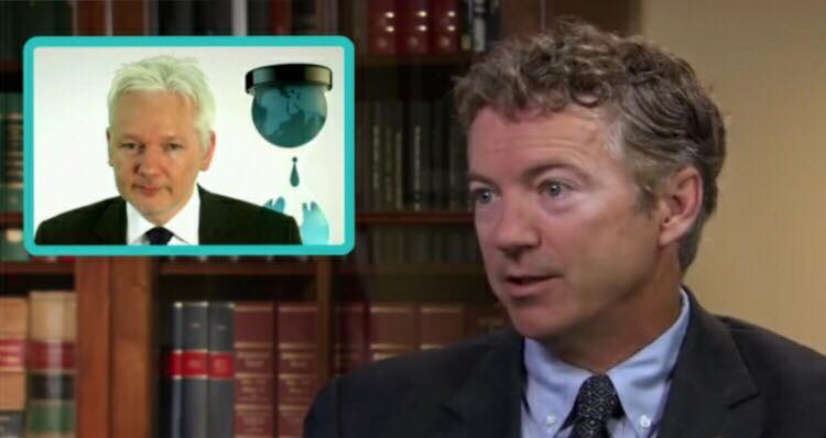 Senator Rand Paul delivers a plan that will work for Assange and the U.S. Photo credit to US4Trump compilation with Fox Screen Grab, WSJ Screen Grab.