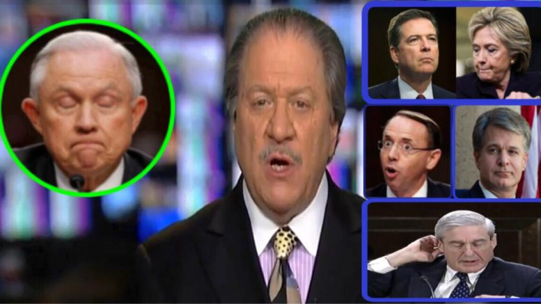 Joe diGenova joined Sean Hannity on Fox News and exposed the DOJ and FBI. Photo credit to US4Trump enhanced compilation with Video Screen Shots, Page Six, Reddit- The _Donald, Twitter.