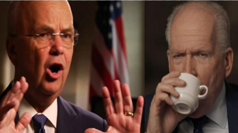 Michael Hayden gives a double edged compliment to President Trump. Photo credit to US4Trump compilation with ABC Screen Grab, PBS Screen Grab.