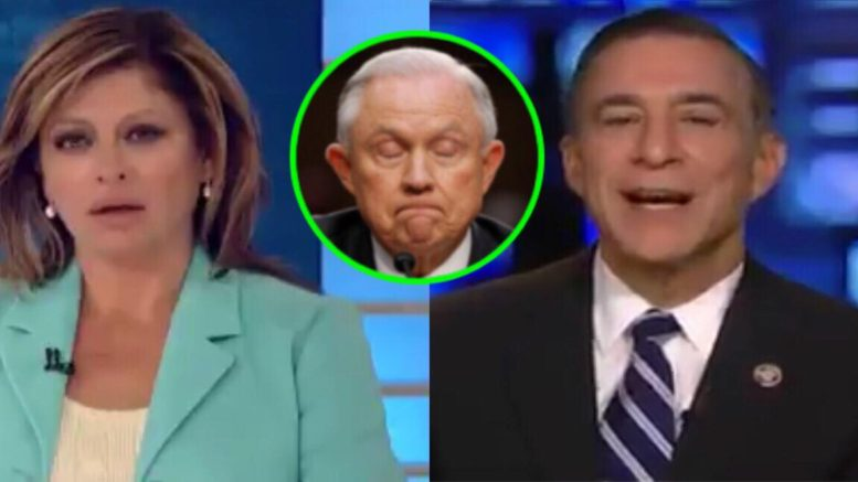 Darrell Issa (R-CA) joined Maria Bartiromo on Sunday Morning Futures and discussed the documents. Photo credit to US4Trump enhanced compilation with screen captures.
