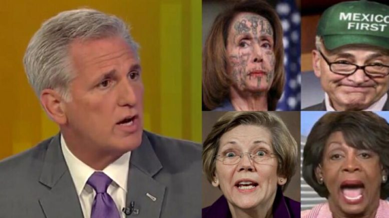Congressman McCarthy (R-CA) joined Maria Bartiromo on Sunday Morning Futures and discussed the midterm elections. Photo credit to US4Trump enhanced compilation with Fox Screen Grab, Twitter, Img Flip, Misc Screen Grabs.