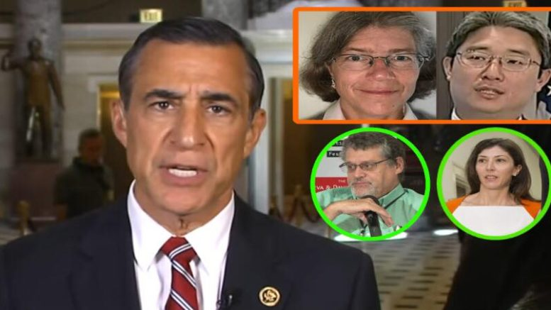 Issa revealed the Bruce Ohr session to Fox News. Photo credit to US4Trump compilation with Fox Screen Grab, EPA, Misc Screen Grabs.