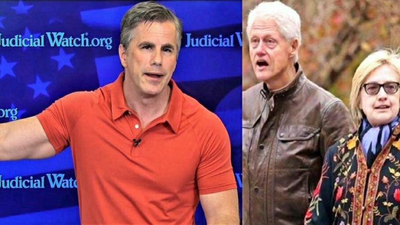 Fitton announces STUNNING news of Hillary's next hearing. October 11th. Photo credit to US4Trump compilation with (L) Tom Fitton via Reddit (R) Pinterest.