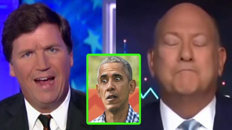 Tucker takes down Democratic strategist on Russia gate. Photo credit to US4Trump compilation with Screen Grabs, Just Jared